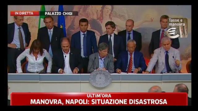 Manovra, conferenza stampa enti locali: Giuseppe Castiglione