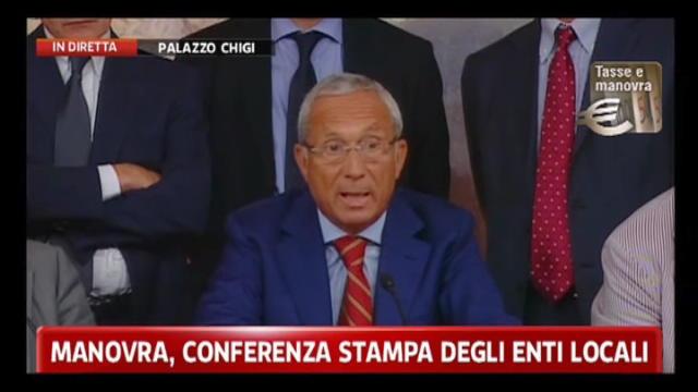 Manovra, conferenza stampa enti locali: Osvaldo Napoli