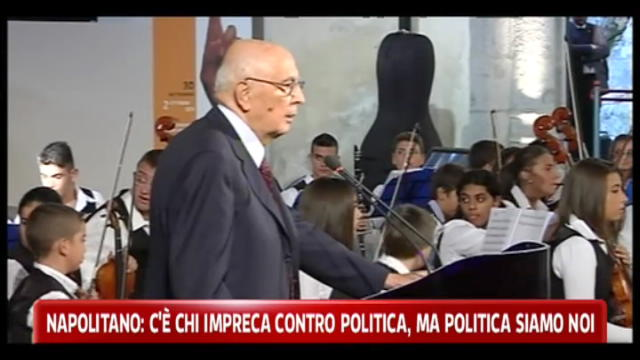 Napolitano:o il paese cresce insieme o non cresce