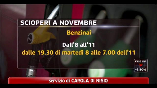 Scioperi, a novembre si fermano scuola, benzinai e treni