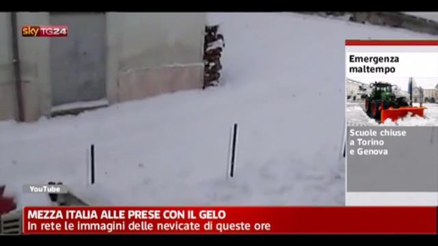 Maltempo, in rete le immagini delle nevicate di queste ore
