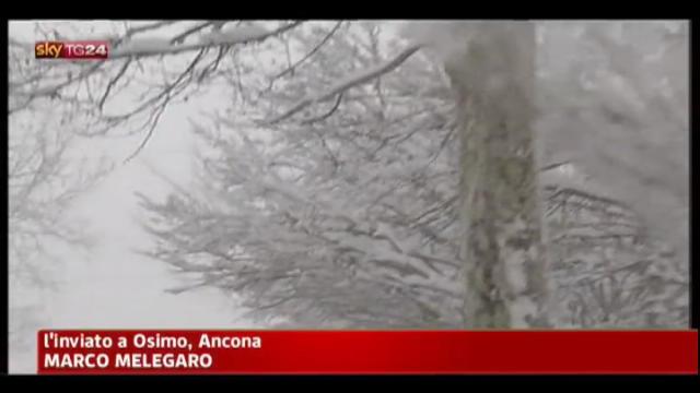 Ancora neve nelle Marche in attesa di una schiarita