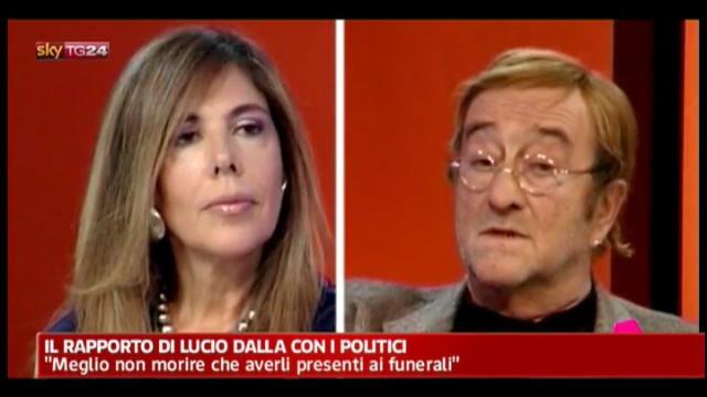 Il rapporto di Lucio Dalla con i politici