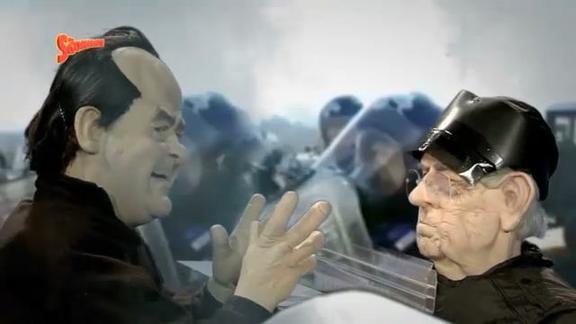 No Tax, Di Pietro (sgommato) contro Monti: Sei una pecorella