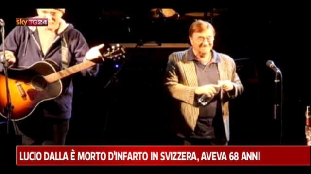 Lucio Dalla si è spento a 68 anni