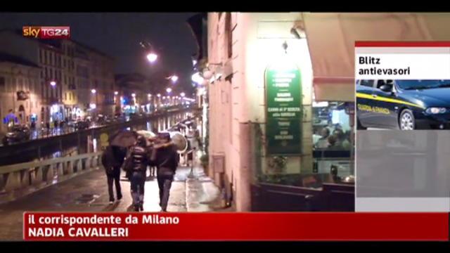 Milano, altro blitz notturno dell'Agenzia per l'entrate