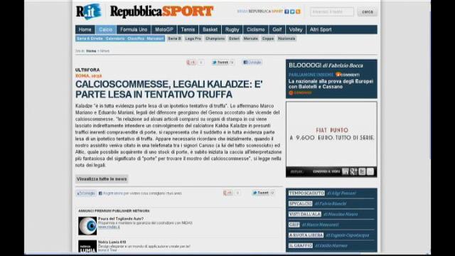 """Calcioscommesse, l'avvocato di Kaladze: """"Tentata truffa"""""""