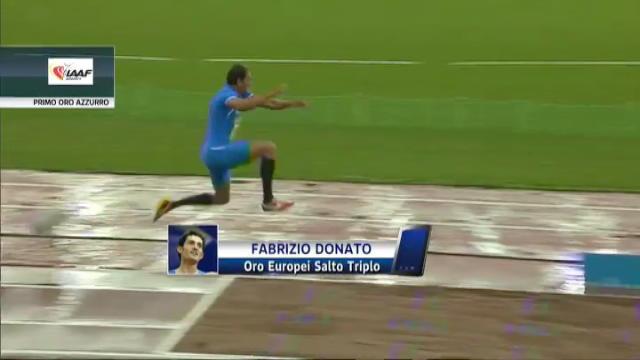 Atletica, Fabrizio Donato d'oro negli Europei di Helsinki