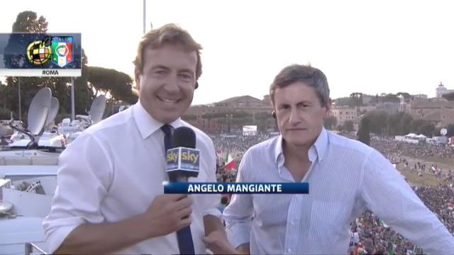 Euro 2012, dal Circo Massimo intervista ad Alemanno