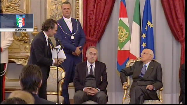 Cesare Prandelli al Quirinale