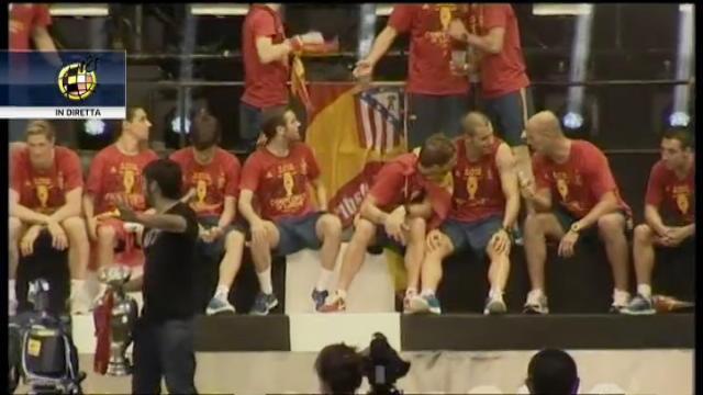 """Spagna Campione d'Europa, a Madrid si canta """"No hay 2 sin 3"""""""
