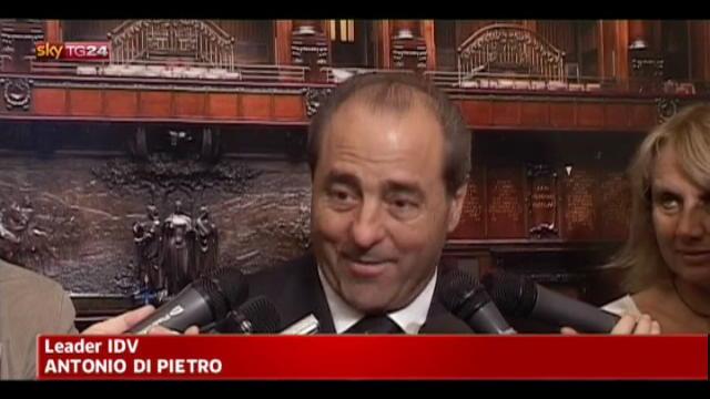 Di Pietro: le coalizioni si vedranno sui programmi