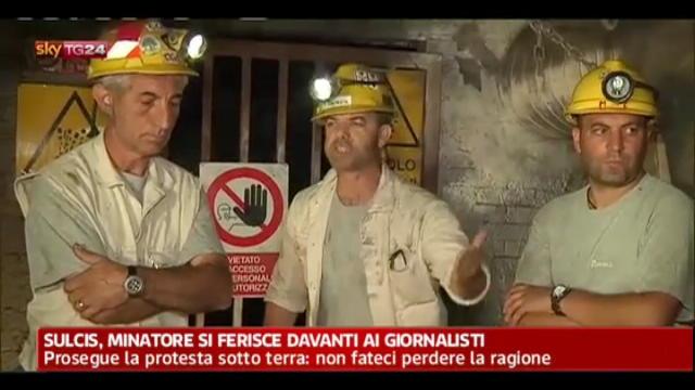 Sulcis, minatore si ferisce di fronte la televisione