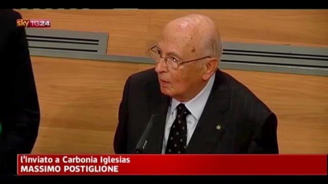 Carbosulcis, Napolitano: solidarietà ai minatori sardi