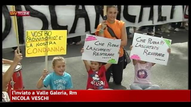 Roma, protesta dei cittadini contro nuova discarica