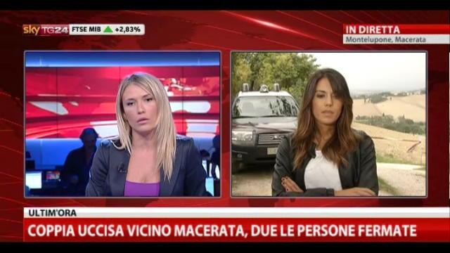 Coppia uccisa vicino a Macerata, due le persone fermate