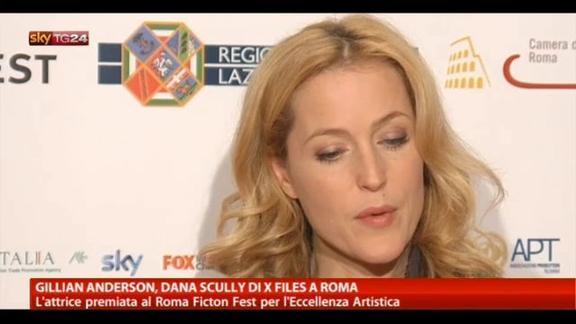 Gillian Anderson, la Dana Scully di X Files a Roma