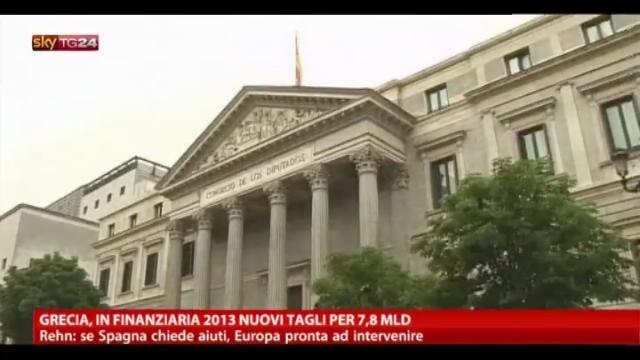 Grecia, in finanziaria 2013 nuovi tagli per 7,8 Mld