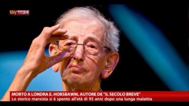 """Morto a Londra E.Hobsbawm, autore de """"Il secolo breve"""""""