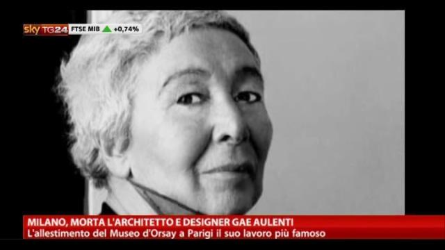 Milano, morta l'architetto e designer Gae Aulenti