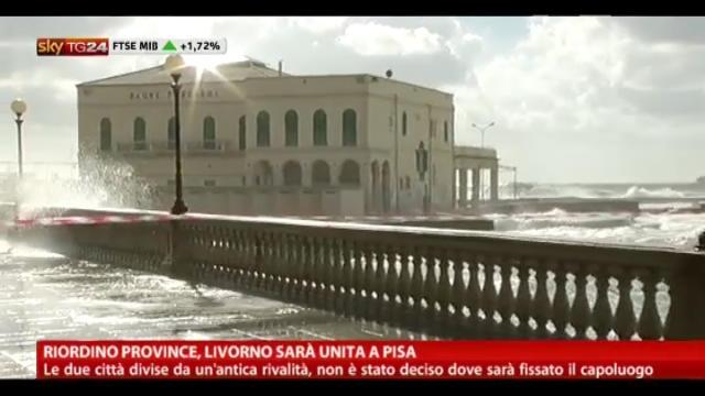 Riordino province, Livorno sarà unita a Pisa