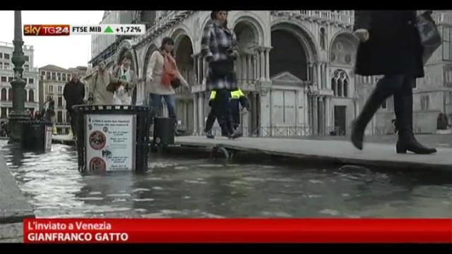 L'acqua alta ha raggiunto 143 cm, allagamenti in città