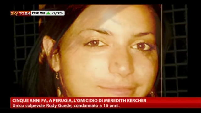Perugia, cinque anni fa l'omicidio di Meredith Kercher