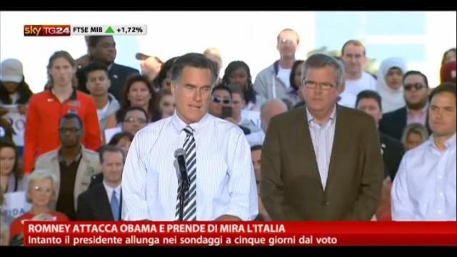 Romney attacca Obama e prende di mira l'Italia