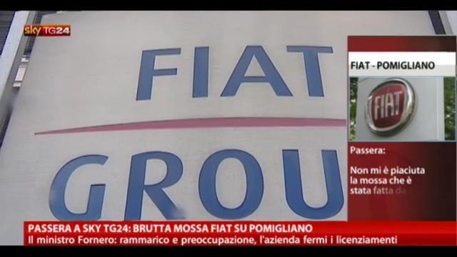 Passera a SkyTG24, brutta mossa Fiat su Pomigliano