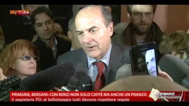Primarie, Bersani: con Renzi non solo caffè ma anche pranzo