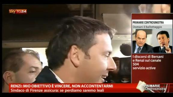 Renzi: mio obiettivo è vincere, non accontentarmi