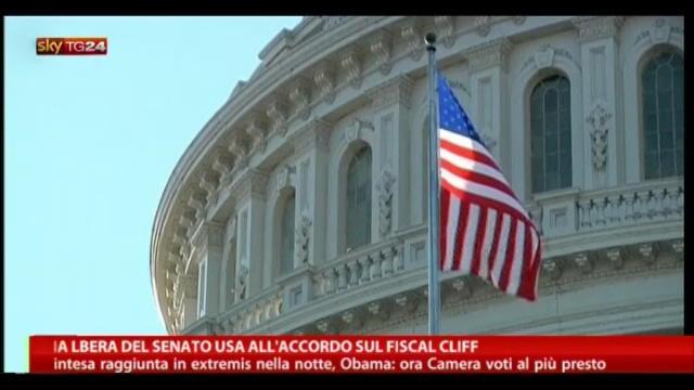 Via libera al Senato USA all'accordo sul Fiscal Cliff