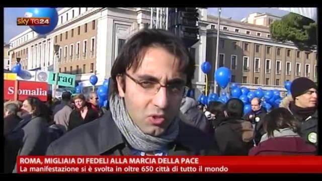 Roma, migliaia di fedeli alla marcia della pace
