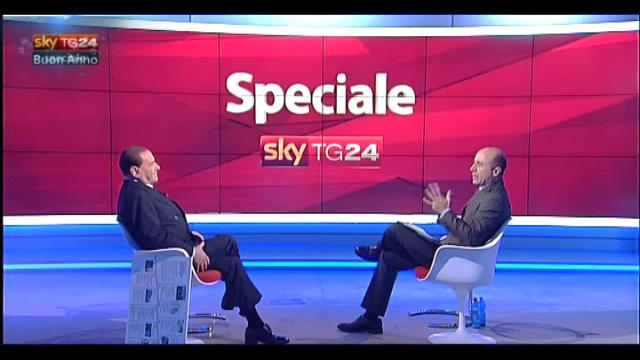 Speciale, Berlusconi a SkyTG24 (7): il simbolo sarà il Pdl