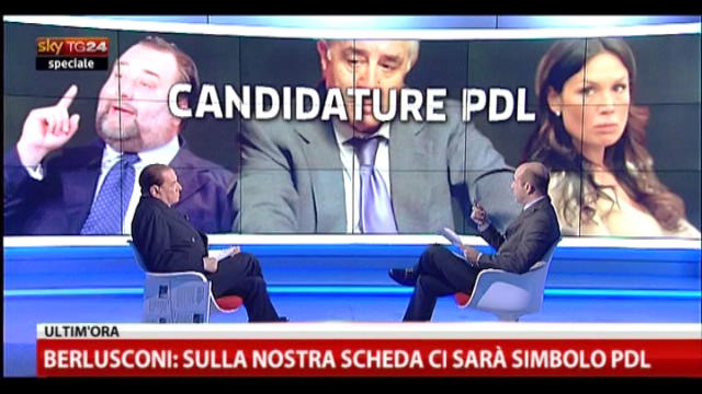 Speciale, Berlusconi a SkyTG24(8): Fiorito e Minetti?