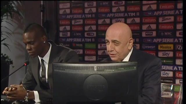 Milan, la presentazione di Balotelli alla stampa