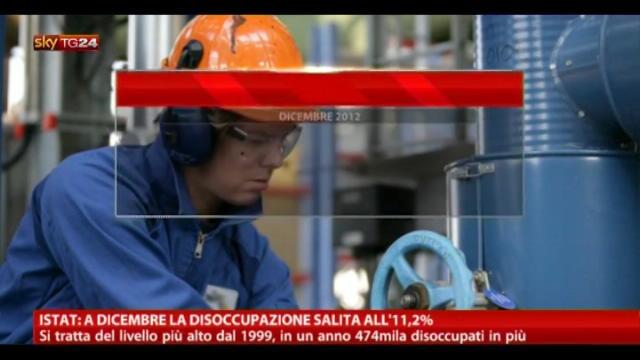 Istat:disoccupazione giovanile in lieve calo su base mensile