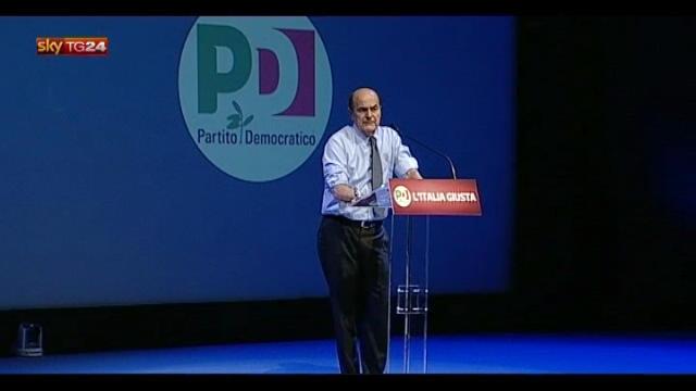 """Bersani: """"Il nostro è un grandissimo progetto"""""""