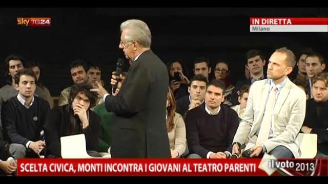 Scelta Civica, Monti incontra i giovani al Teatro Parenti