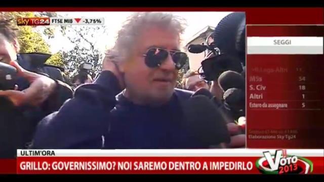 """3- Grillo: """"Vado io alle consultazioni al Quirinale"""""""