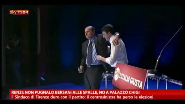 Renzi: non pugnalo Bersani alle spalle, non a Palazzo Chigi