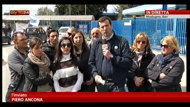 Protesta operai Bridgestone a Modugno, parlano le mogli