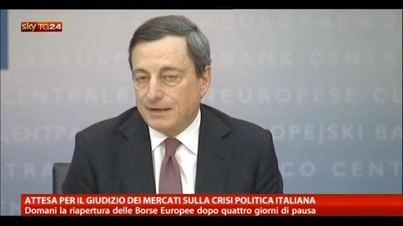 Attesa per giudizio mercati sulla crisi politica italiana