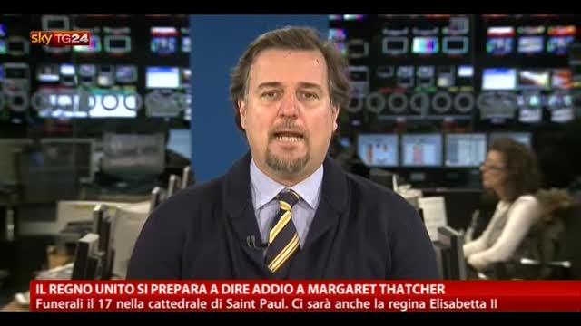 Il Regno Unito si prepara a dire addio a Margaret Thatcher