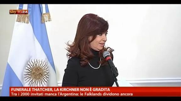 Funerale Thatcher, la Kirchner non è gradita