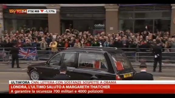 Londra, l'ultimo saluto a Margareth Thatcher