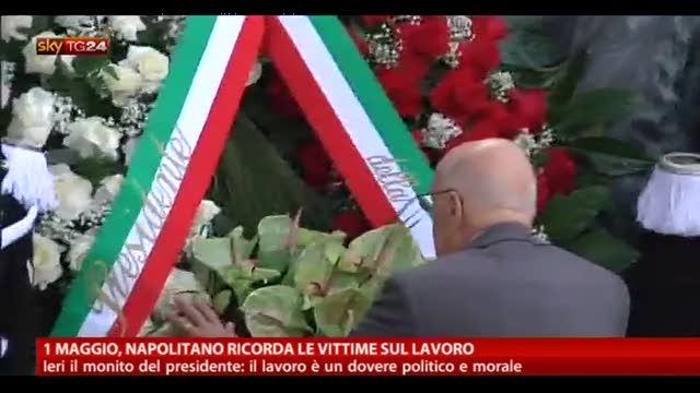 1 maggio, Napolitano ricorda le vittime sul lavoro