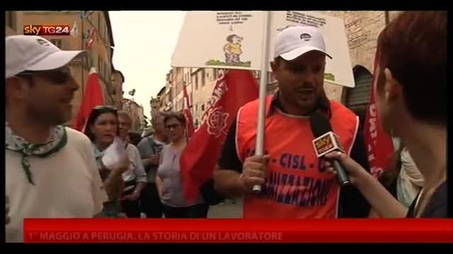 1 maggio a  Perugia, la storia di un lavoratore