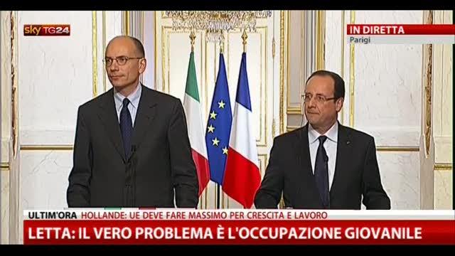 1- Letta-Hollande, le domande dei giornalisti