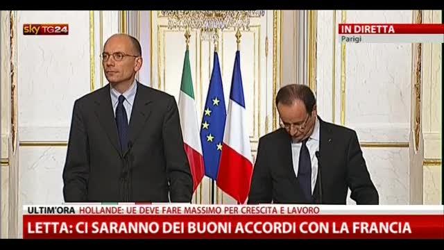 3- Letta-Hollande, le domande dei giornalisti
